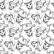 Постер, плакат: Joker skull seamless pattern based on a hand drawn sketch