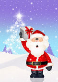Santa claus s vánoční dárek