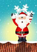 Santa claus na střeše