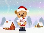 Medvěd na Vánoce