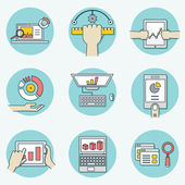 Set of data analytics icons for business - part 1