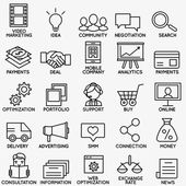 Set of seo and internet service icons - part 1 - vector linear symbols