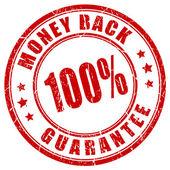Money back 100 guarantee stamp on white background