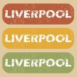 Постер, плакат: Vintage Liverpool stamp set