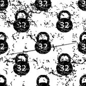 Dumbbell pattern grunge black image on white background