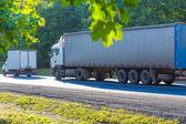 Kamiony jezdí po dálnici