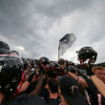 Постер, плакат: Raiders vs Panthers football game