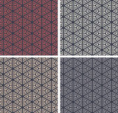 Repeating Pattern background Set of 4 colorful geometric shapes background isolated on different colors