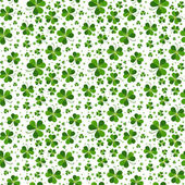 Seamless pattern with Saint Patricks day shamrock leaves