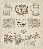 Vector illustration of the Wine Vintage set