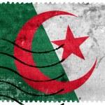 Постер, плакат: Algeria Flag old postage stamp