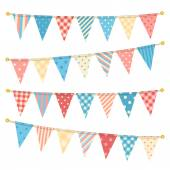 Vector triangle bunting flags.