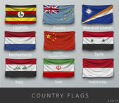 Příznaky různých zemí