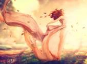 Podzimní fantasy dívka