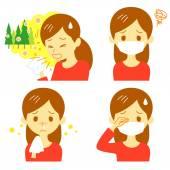 Senná rýma cedr pylové alergie