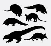 Anteater animal silhouette Good use for symbol logo web icon mascot avatar sign or any design you want Easy to use