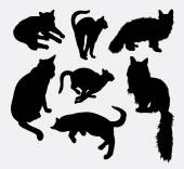 Cat pet animal activity silhouette Good use for symbol logo web icon mascot sign sticker design or any design you want Easy to use