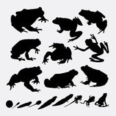 Frog and metamorphose silhouettes Good use for symbol web icons logo mascot or any design you want Easy to use
