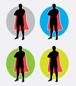 Superman pose silhouette logo Good use for symbol logo web icon or any design you want Easy to use