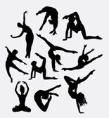 Happy dancing male and female pose silhouette Good use for web icon logo symbol mascot clip art sticker or any design you want Easy to use