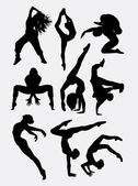 Beautiful dancer performing silhouette 1 Male and female dance pose Good use for symbol logo web icon mascot game elements mascot sign sticker design or any design you want Easy to use