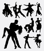 Tango salsa 3 couple male and female modern dance Good use for symbol web icon logo mascot sign or any design you want Easy to use