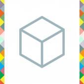 Izometrické krychle ikona