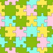 Puzzle pattern background colored - endless