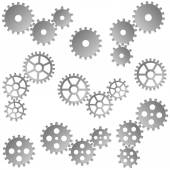 Collection of gray gears for cooperation or teamwork symbolism