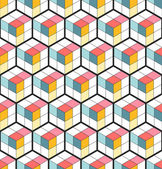 Vector Seamless Cubic Pattern. Abstract Background. Geometric background. Grid Pattern. Isometric background of hexagons. Three-dimensional Pattern. Zigzag background. Vector regular Texture.