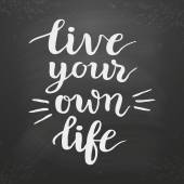 Plakát Žít svůj vlastní život