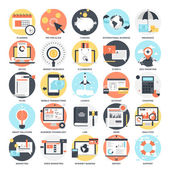 Abstract vector collection of colorful flat business and finance icons Design elements for mobile and web applications