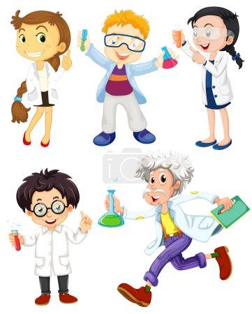 Постер, плакат: Scientists and doctors, холст на подрамнике