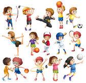 Děti hrají sport