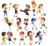 Kids playing sport