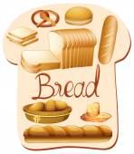 Different kind of bread illustration
