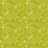 Healthy diet seamless pattern Fruit and vegetable endless textured background