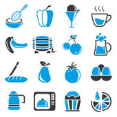 Collection of 16 food icons