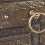 Постер, плакат: Door Architecture and Iron Doorknocker