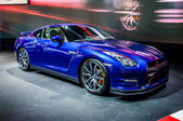 MOSCOW, RUSSIA - AUG 2012: NISSAN GT-R R35 presented as world premiere at the 16th MIAS Moscow International Automobile Salon on August 30, 2012 in Moscow, Russia