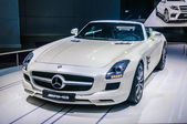 MOSCOW, RUSSIA - AUG 2012: MERCEDES-BENZ SLS AMG COUPE C197 presented as world premiere at the 16th MIAS Moscow International Automobile Salon on August 30, 2012 in Moscow, Russia