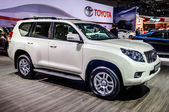 MOSCOW, RUSSIA - AUG 2012: TOYOTA LAND CRUISER PRADO J150 presented as world premiere at the 16th MIAS Moscow International Automobile Salon on August 30, 2012 in Moscow, Russia