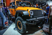 FRANKFURT - SEPT 2015: Jeep Wrangler presented at IAA Internatio