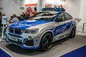 FRANKFURT - SEPT 2015: BMW X4 police car presented at IAA Intern