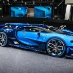 Постер, плакат: FRANKFURT SEPT 2015: Bugatti Chiron Vision Gran Turismo presen