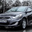 Постер, плакат: Novokuznetsk Russia April 27 2016: Car Hyundai Accent Solaris
