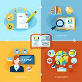 Flat design for education and learning concept graphic