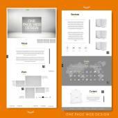 Minimalistický design webové stránky šablony stránek