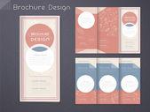 Graceful tri-fold brochure template design