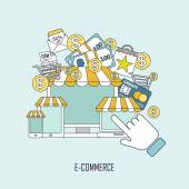Koncept e komerce v tenké čáry